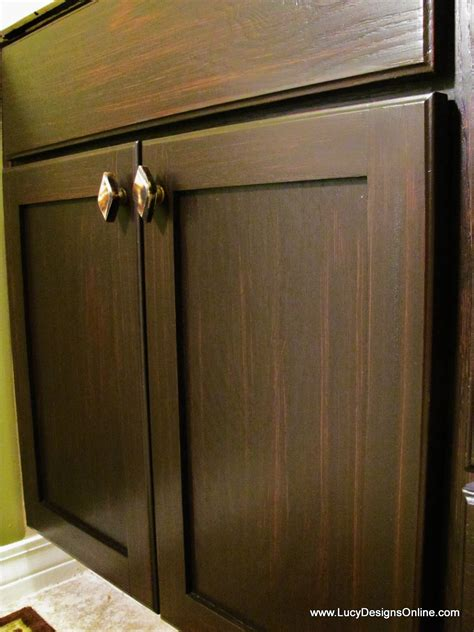 Staining Stained Cabinets by How To Use Gel Stain Diy Gel Stained Master Bath Cabinet