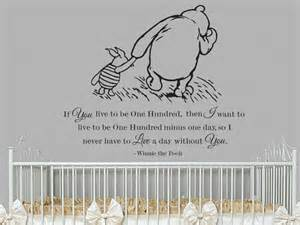 Cheap Removable Wall Stickers classic winnie the pooh and piglet if you live by