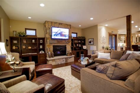 living room with fireplace and tv leather ottoman coffee table with exclusive fireplace and modern tv for traditional living
