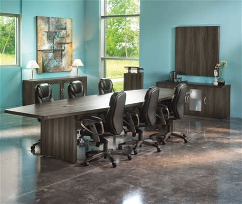 Grey Meeting Table Aberdeen Gray Steel Finished 12 Boat Shaped Conference Table Actb12lgs By Mayline