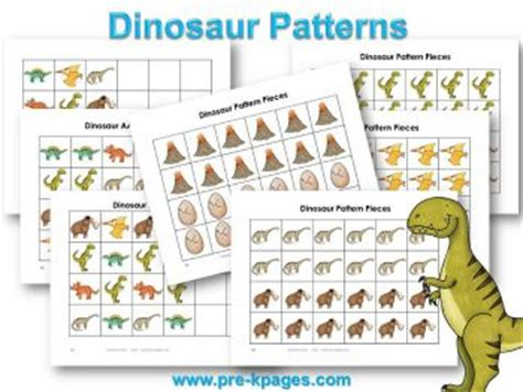 dinosaur pattern activities 225 best images about dinosaurs on pinterest units of