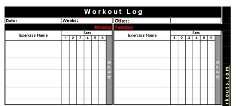 bodybuilding excel template search results for printable workout logs calendar 2015