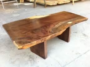 Walnut live edge coffee table stump furniture