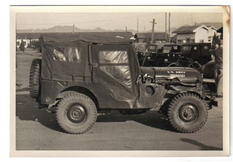 Korean War Jeep Vintage Korean War Photo Of M 38a1 Ewillys