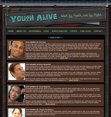 website templates for youth ministry church youth website template youth group church