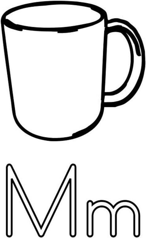 Mug Coloring Page mug coloring page printable worksheets for