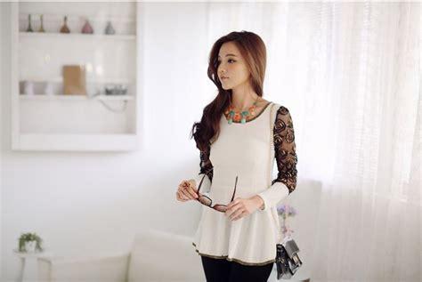 Blouse Cantik blouse korea wanita brokat cantik model terbaru jual