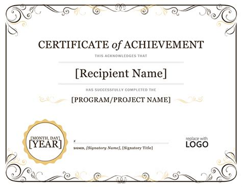 achievement certificates templates achievement certificate template sle templates