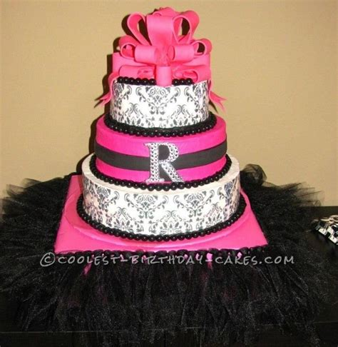 black and pink birthday cake coolest pink and black damask cake damask cake birthday