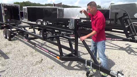 pontoon boat trailer for sale virginia wolverine crank up pontoon trailer youtube