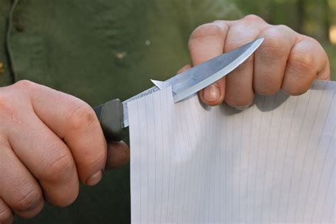 how to sharpen a razor blade for cutting guide testing the sharpness of knives knives forums