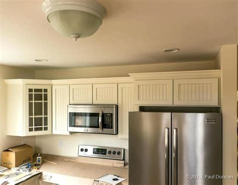 How To Put Crown Molding On Kitchen Cabinets How To Install Crown Molding On Cabinet Crown Molding Above Kitchen Cabinets Installing