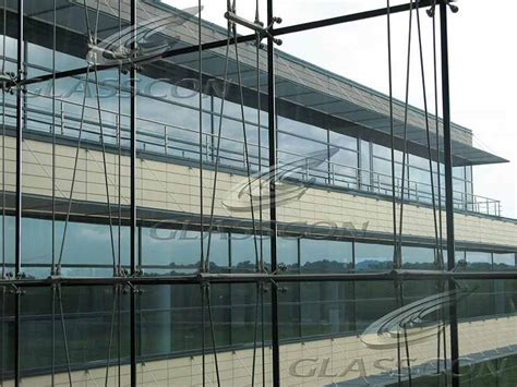 glass curtain walls ceramic cladding spider glass curtain wall tension rod