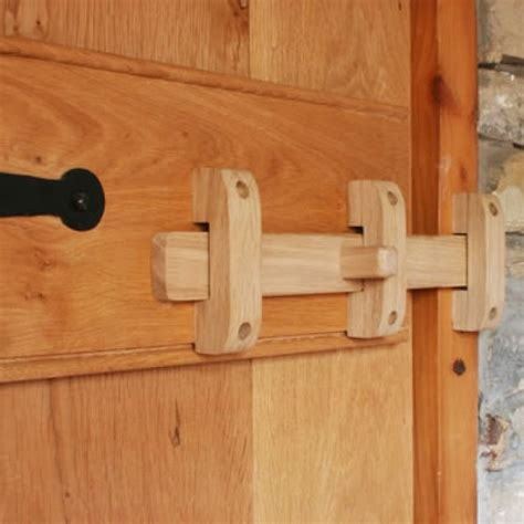 solid oak slide bolt wooden hinges latches knobs and