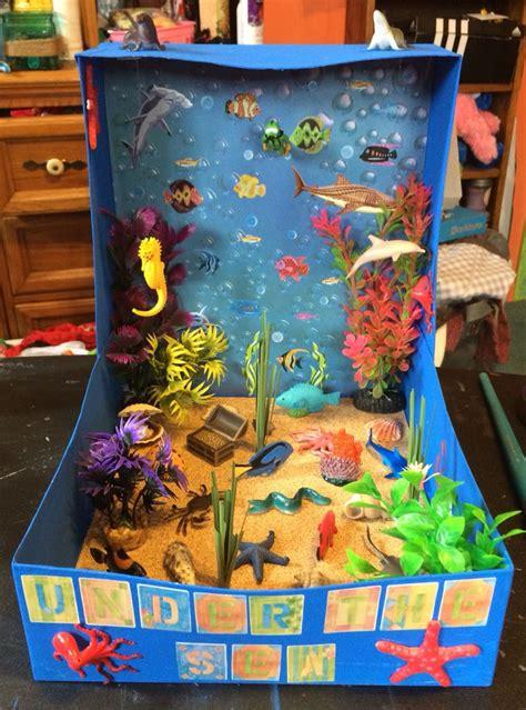 sea biome diorama kids ocean projects sea