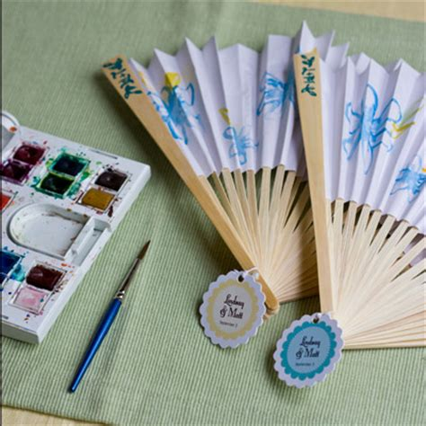 How To Make Paper Fans For Weddings - favor friday paper fans evermine weddings