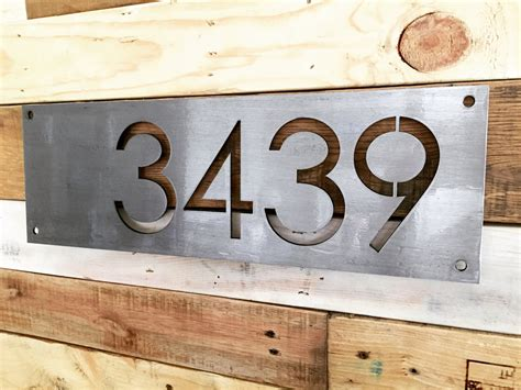 metal house numbers custom 18 metal house number modern rustic house