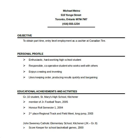 1 Page Resume Templates 41 one page resume templates free sles exles