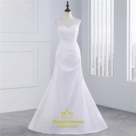 Sleeveless Mermaid Lace Dress lace sleeveless mermaid wedding dresses with