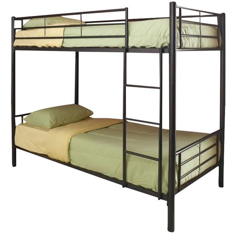 coaster bunk bed coaster denley metal bunk bed in black finish 4600x2b