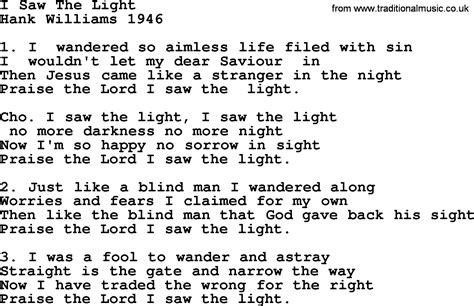Song I Saw The Light by Most Popular Church Hymns And Songs I Saw The Light