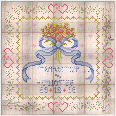 cuscini per fedi nuziali punto croce hobby lavori femminili ricamo uncinetto maglia