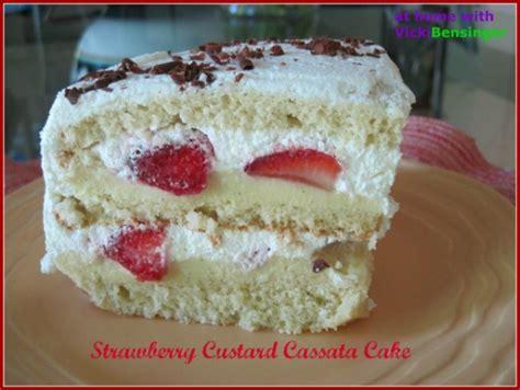 what is cassata cake strawberry custard cassata cake at home with vicki bensinger