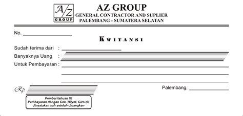 Contoh No Kwitansi by Buat Nota Faktur Dan Kwitansi Di Palembang Percetakan