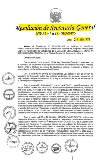 requisitos para jubilarse en 2016 rsg n 176 026 2016 minedu norma para contratar acompa 241 antes