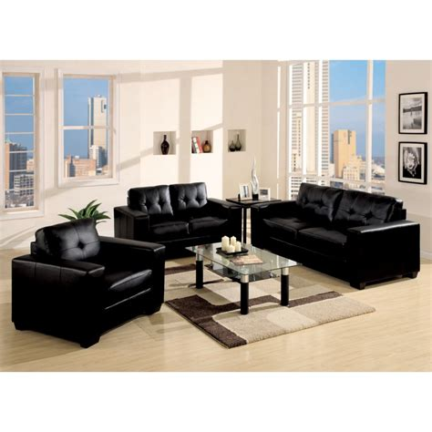 Awesome Living Room Ideas Black Leather Sofa Greenvirals Black Sofa Living Room Design