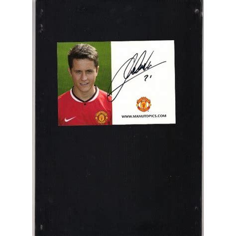 ander herrera manchester united signed signed ander herrera manchester united photo card