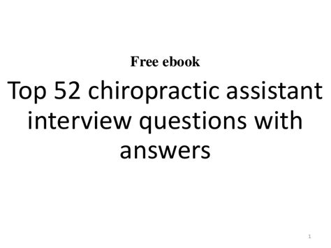 top 10 chiropractic assistant questions and answers