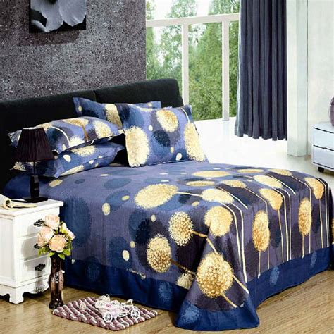 dandelion comforter set 4pcs pure cotton sanding dandelion printed thicken bedding