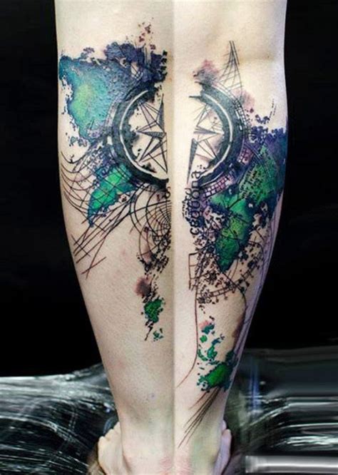 modern art tattoo designs abstract designed by klaim design of