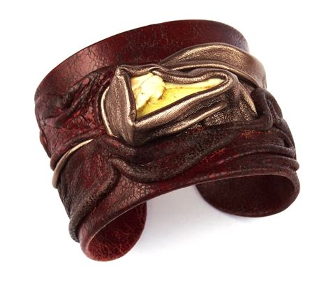 Handmade Leather Cuff Bracelets - leather cuff bracelet for handmade by accessoriesunique