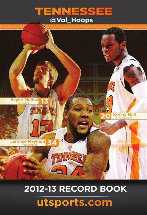 basketball 2012 record 2012 13 tennessee s basketball record book by the