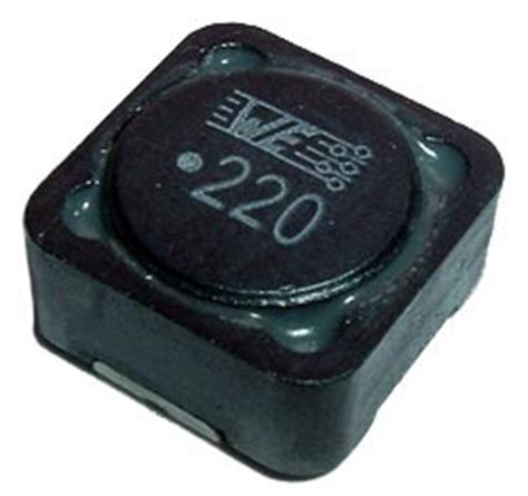 power inductor vs choke 22uh smt choke power inductor wurth 744 771 122 west florida components