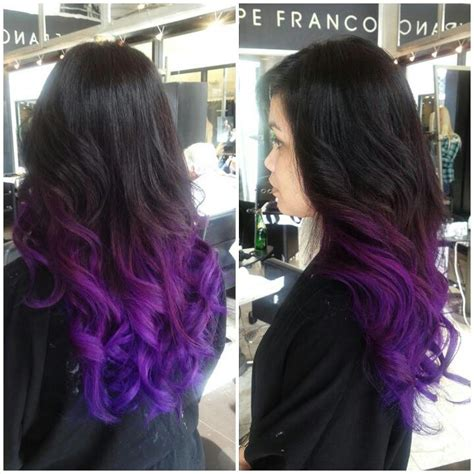 weave hairstyles with purple tips magenta to purple ombre love the mane idea pinterest