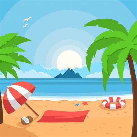 summer beach background   beach illustration
