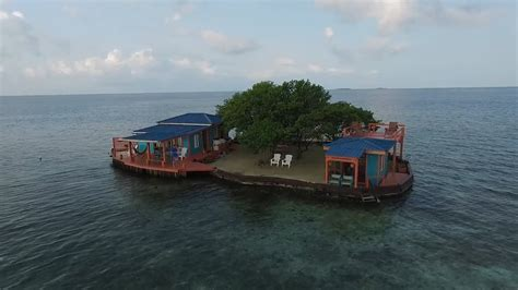 Belize Air Bnb | bird island is a private island off the coast of belize on