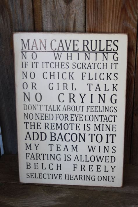 home decor rules for all the men in my family man cave rules subway art