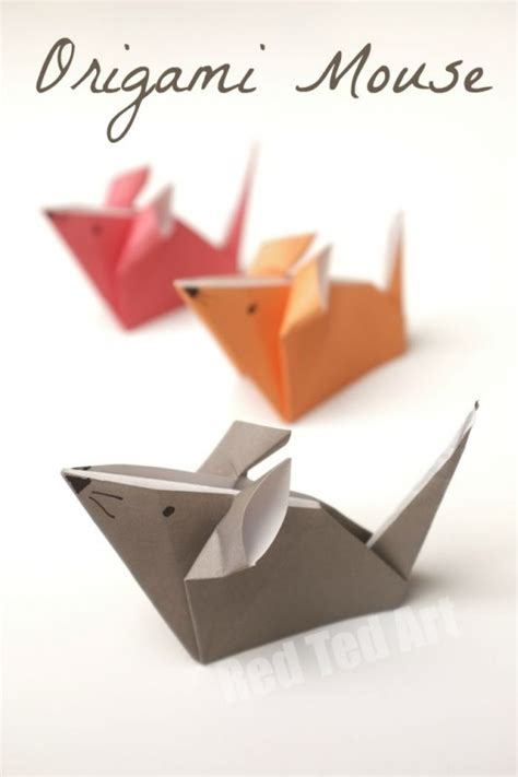 Origami Mice - origami mice a paper mouse craft ted s