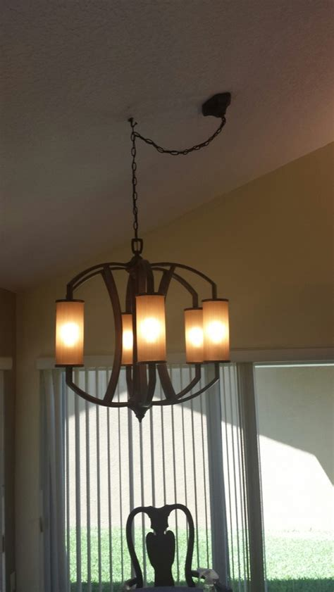do not like swag and hook on new chandelier need ideas