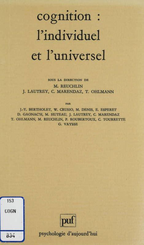format universel ebook ebook cognition l individuel et l universel maurice