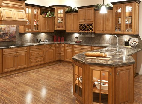 Kitchen In A Cabinet by Butterscotch Glazed Kitchen Cabinets Rta Cabinet Store