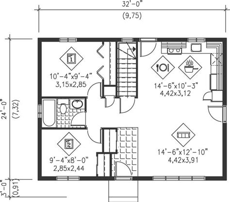 ideas floor plans for ranch homes with diningroom floor ranch house plan 2 bedrms 1 baths 768 sq ft 157 1451