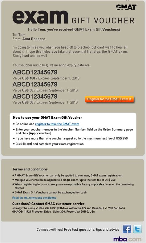 One Year Mba No Gmat by Mba Store Gmat 174 Gift Voucher
