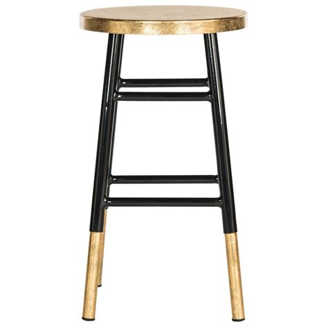 Gold Bar Stool by Safavieh Emery 24 In Black And Gold Bar Stool Fox3231c
