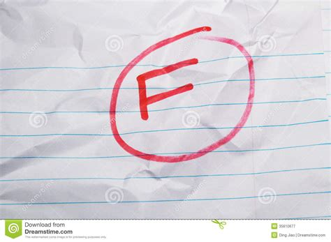 Failing Grades Essay by Failing Grade Royalty Free Stock Photography Image 35610677