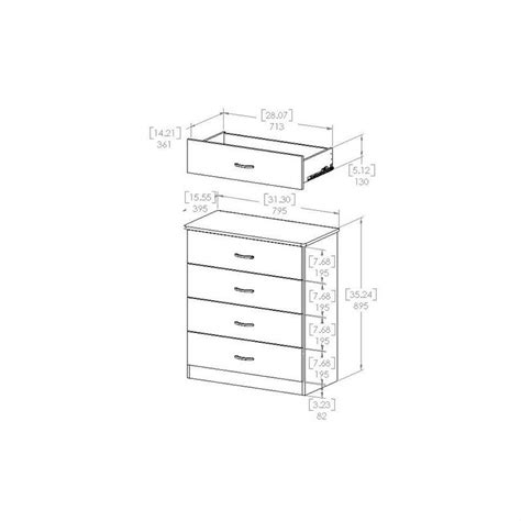 libra 4 drawer dresser in pure black finish home furniture bedroom furniture dressers south shore libra 4 drawer chest in pure black 3070034